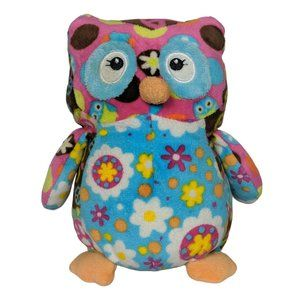 Mary Meyer Multicolor Owl Floral Peace Sign Plush